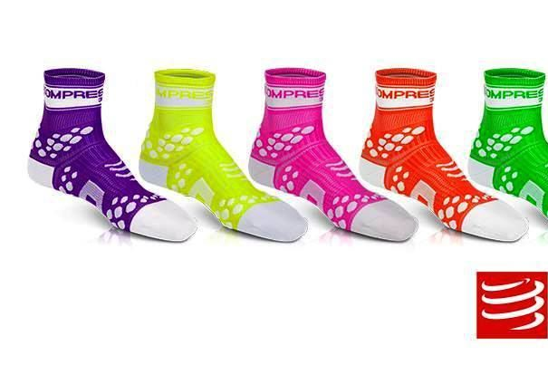calcetines fluo compressport | rendimientofisico10.com