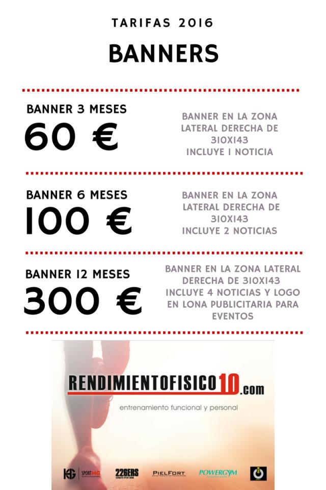 PRECIOS BANNERS 2016